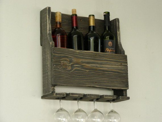 Wine Racks For Home: Pallet Wood Wine Rack Rustic Home Decor By TassoStudio On