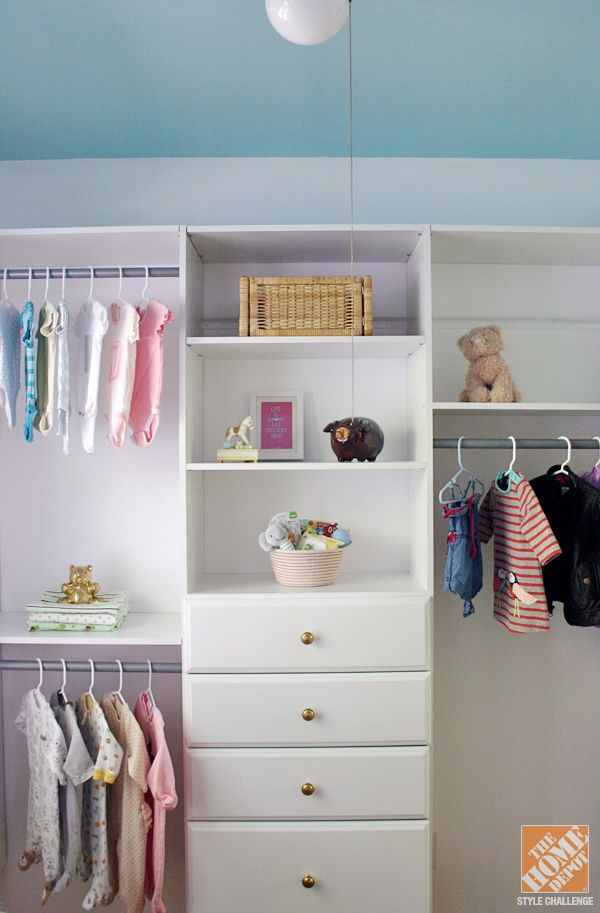 Small Nursery Closet Organization Ideas Part - 16: Closet Organization Ideas For A Nursery - The Home Depot