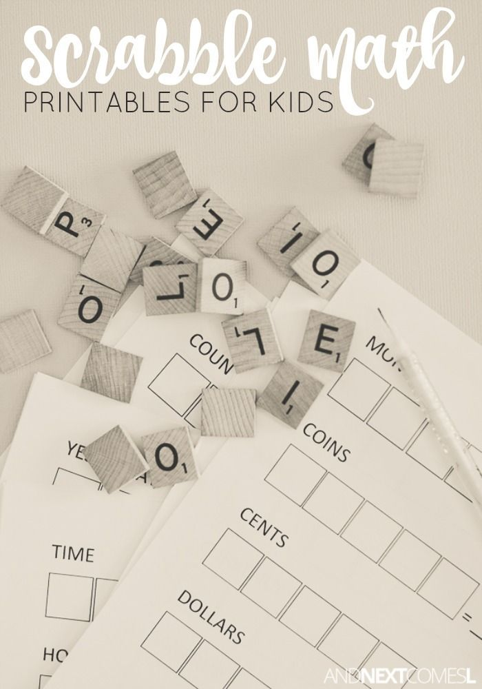 Scrabble Math Printables for Kids | Scrabble, Maths and Literacy