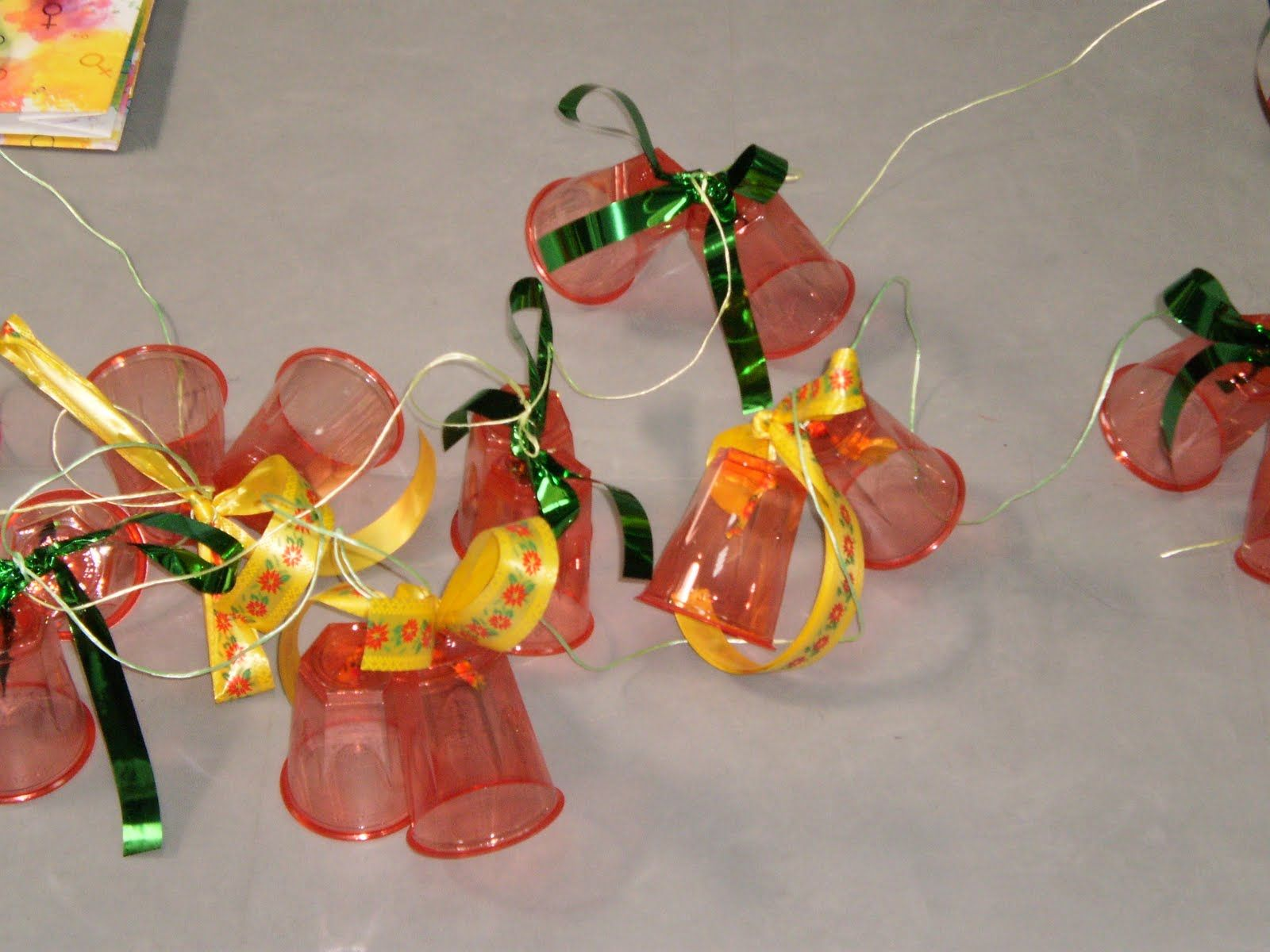 Christmas Balls And Bells With Plastic  Recycled Homemade Christmas Ornaments