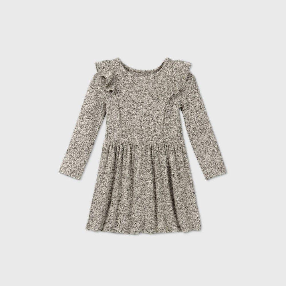 Toddler Girls Cozy Long Sleeve Dress Cat Jack Gray 5t Grey Long Sleeve Dress Long Sleeve Knit Dress Outfit Inspiration Fall [ 1000 x 1000 Pixel ]