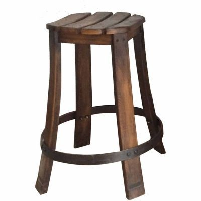 Red Shed Wooden Barrel Stool