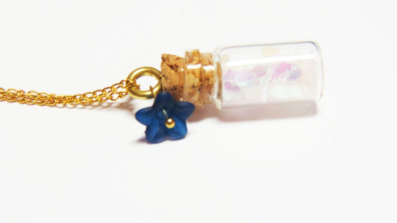 Heart in a bottle necklace