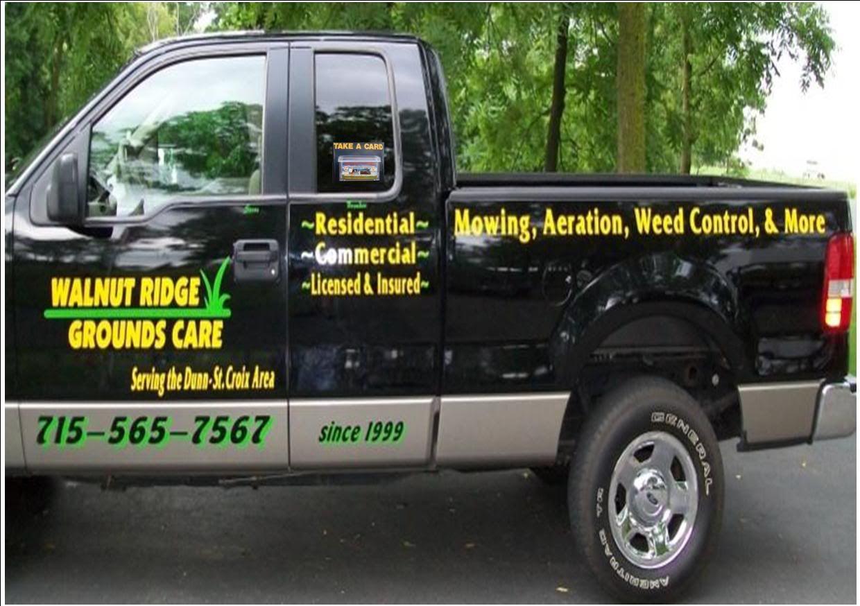 truck lettering - gopherhaul landscaping