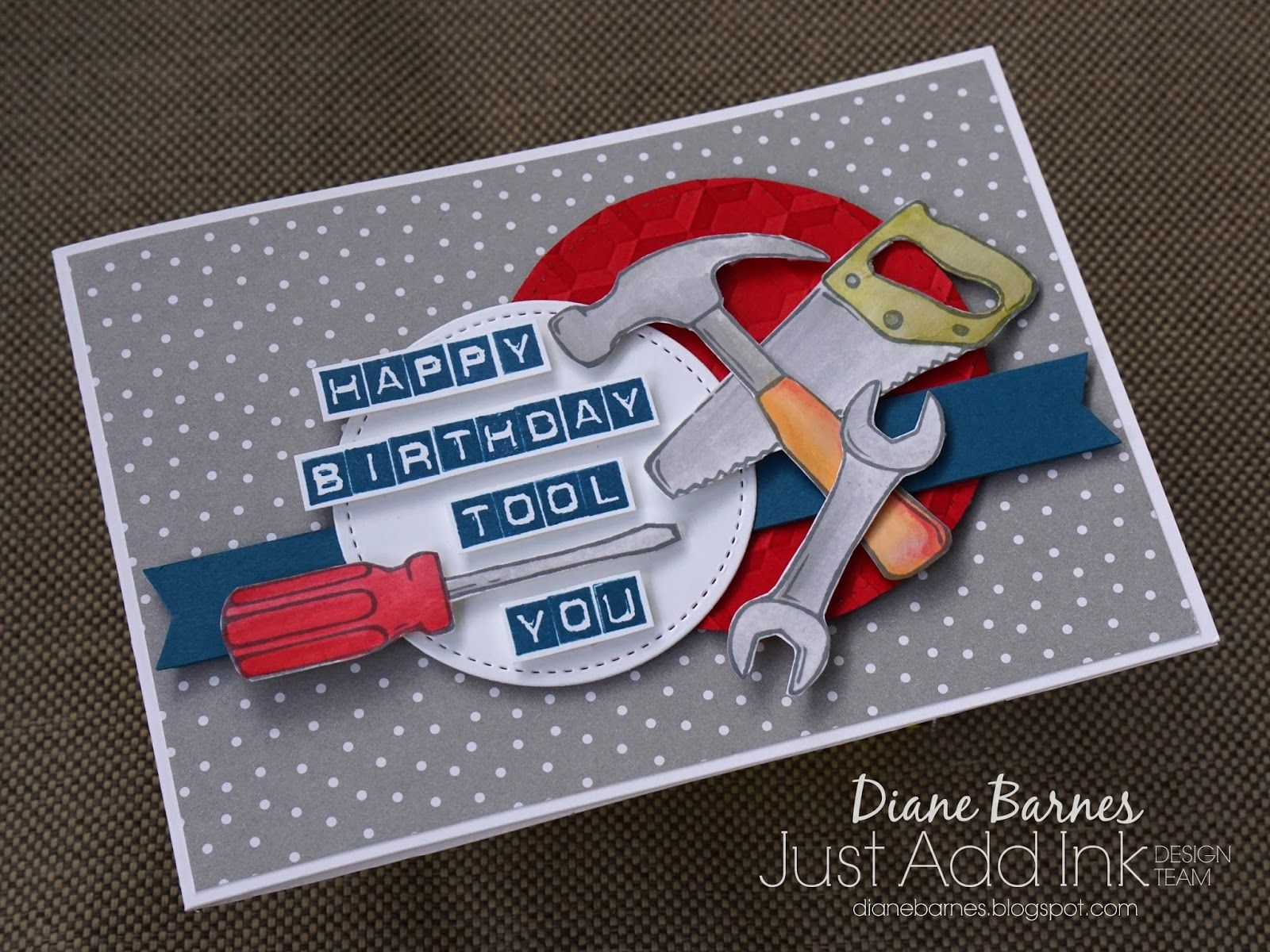Masculine Punny Tool Birthday Card Using Stampin Up Nailed It