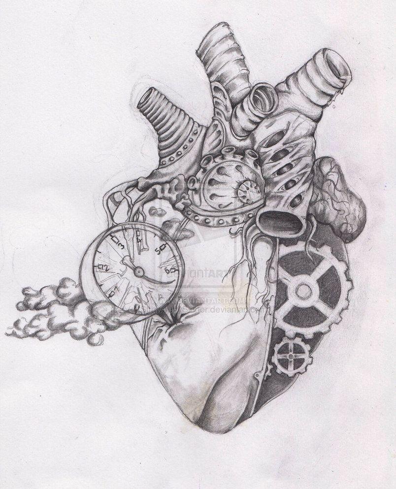 biomec heart by StrawberrySinner | Human heart drawing ...