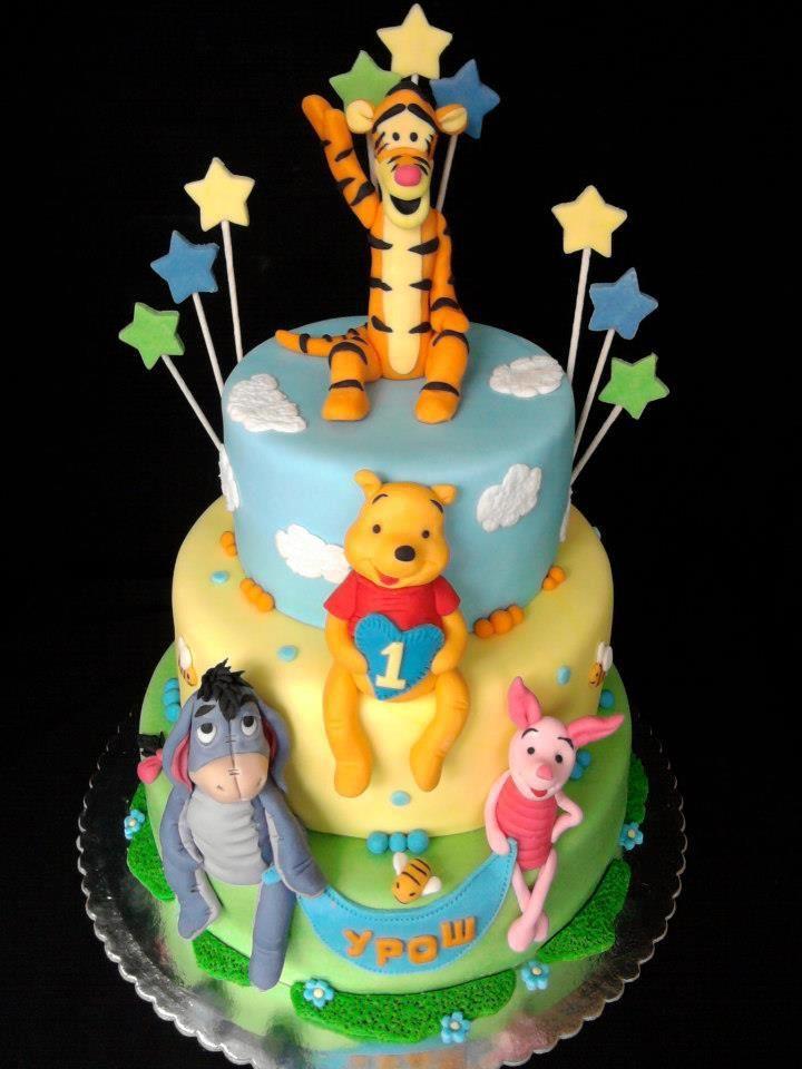 winnie the pooh cake children 39 s birthday cakes pinterest geburtstagstorte fondant. Black Bedroom Furniture Sets. Home Design Ideas