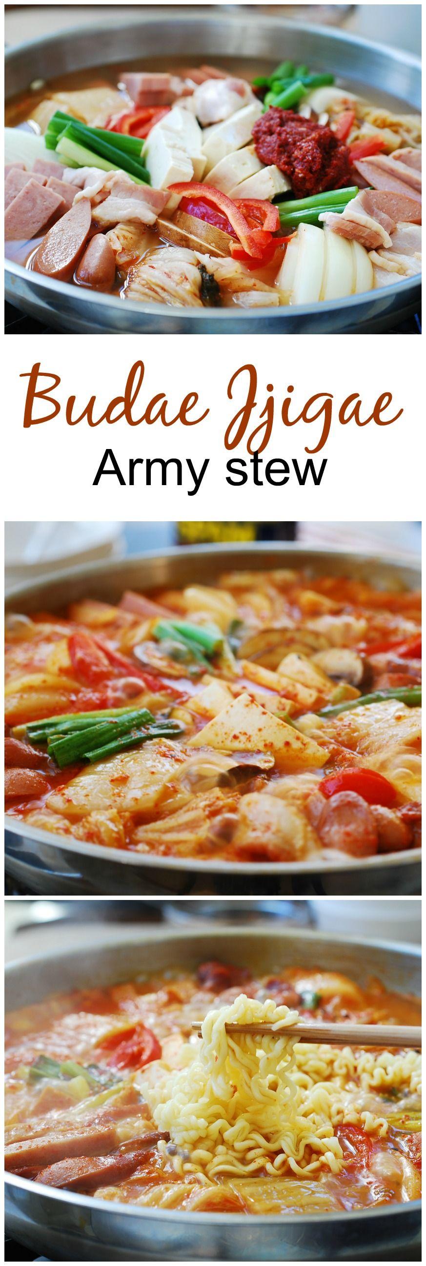 Budae Jjigae Army Stew Recipe Korea Korean Food Recipes