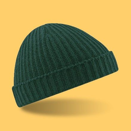 d3647631729 Bottle Green Trawler Beanie. 2016 Winter new MEN And Women s Beanie Hat  Trawler Fisherman Ribbed Cuffed Wooly Knitted cap Knit
