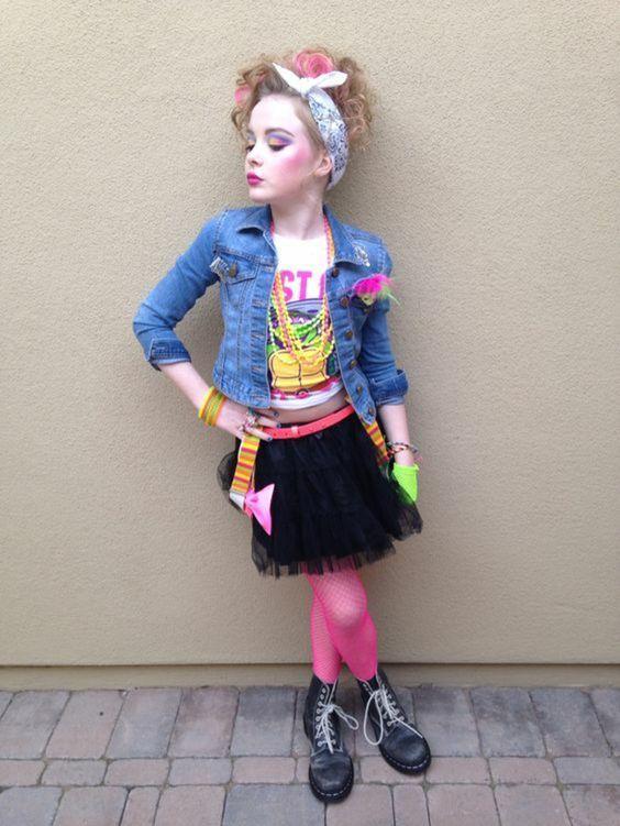 petite fille look Madonna Costumes des années 80