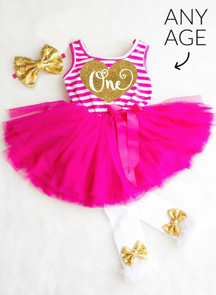 8664fd98b92e Adorable Hot Pink and Gold 1st Birthday Dress for her First Birthday Party  and cake smash outfit! Gorgeous Pink First Birthday Tutu Outfit comes in  any age!