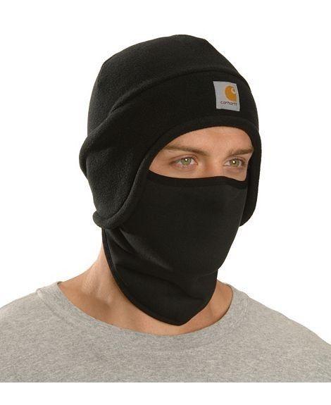 Carhartt Men s Fleece 2-In-1 Headwear Hat Winter Cap Face Mask Skiing  Hunting  carhartt 83425cf72e1