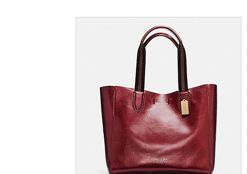 81c30c7395c9 Coach F59388 Large Derby Tote Pebble Leather Metallic Cranberry New MFSRP   Coach  TotesShoppers