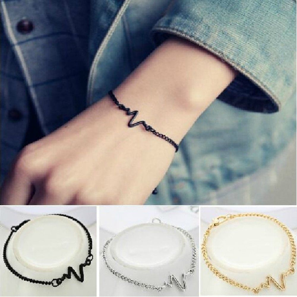 9f558315eb Fashion Hot Simple Waves ECG Heart Rate Bracelets Price: 10.90 & FREE  Shipping #necklace