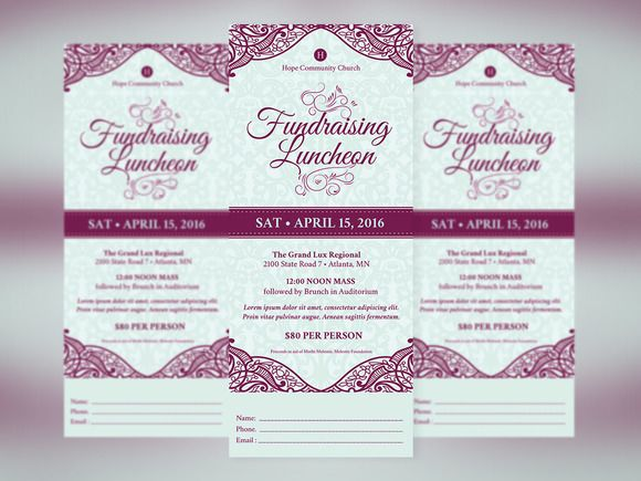 Fundraising Luncheon Ticket Template | Pinterest | Ticket template ...