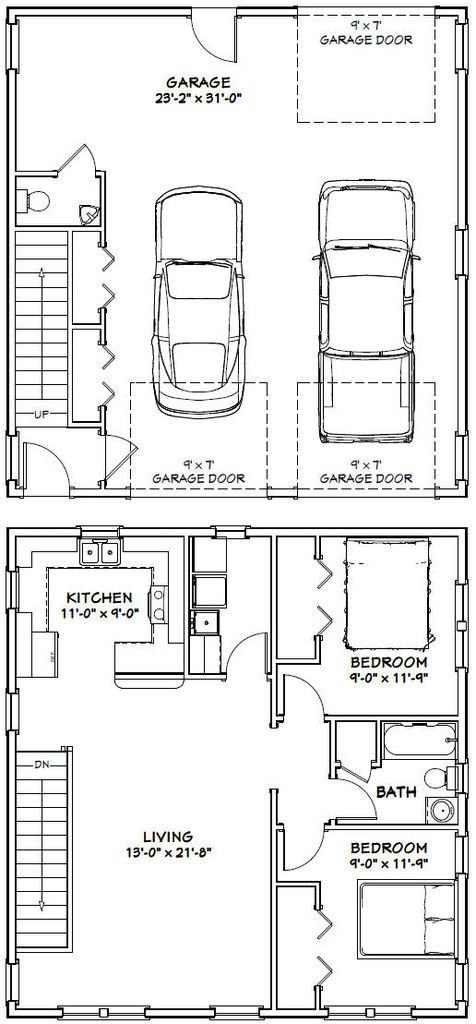 Lovely 2 Bedroom Garage Apartment Plans