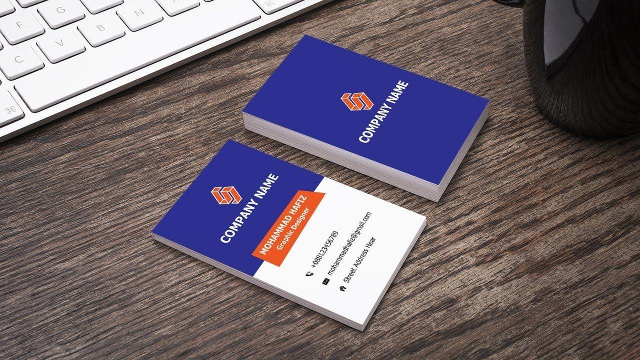 Horizontal Business Card Design In Illustrator Adobe Illustrator Cc Tu Business Cards Creative Templates Business Card Design Business Cards Creative