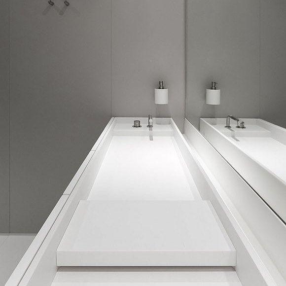 Studio Niels Himacs Bancadas Corian Bancada Banheiro Arquitetura E Decora 231 227 O