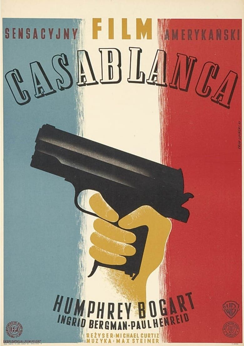 Casablanca Pelicula Completa 480 Polish Movie Posters Polish Poster Movie Posters Design