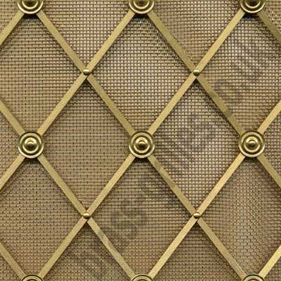 Ordinaire Decorative Woven Wire | Regency Brass Decorative Grilles U2013 Traditional U2013 Kitchen  Cabinets