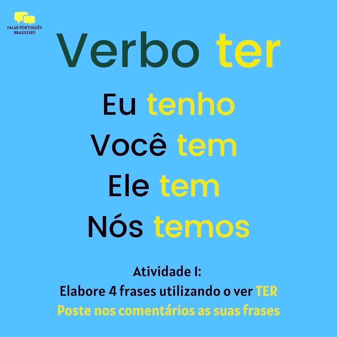 Falar Portugues Brasileiro On Instagram Vamos Praticar