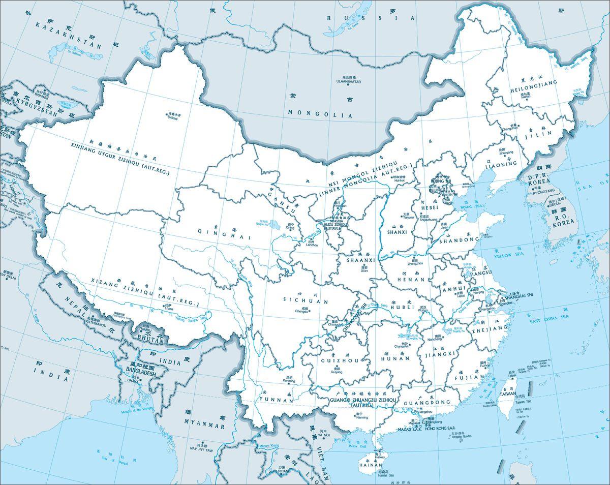 China Province Map china
