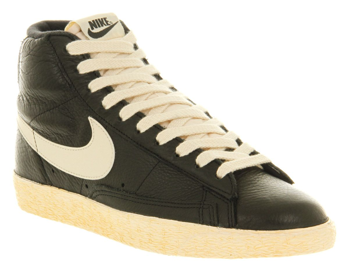 Blazer mid vintage leather black sail leather | Nike, High