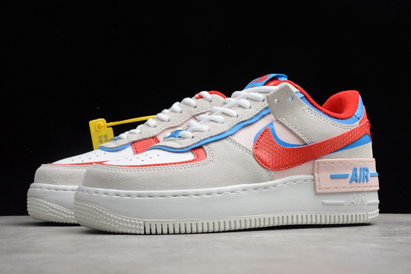 hazlo plano auxiliar Jadeo  2020 Nike Wmns Air Force 1 Shadow Sail/University Red-Photo Blue CU8591-100  For Cheap | Photo blue, Blue color schemes, Red and blue
