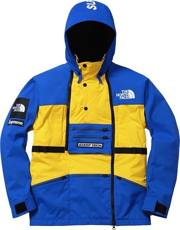 7aef6efc87 SUPREME x The North Face Steep Tech Hooded Jacket Royal M box logo camp S S  16