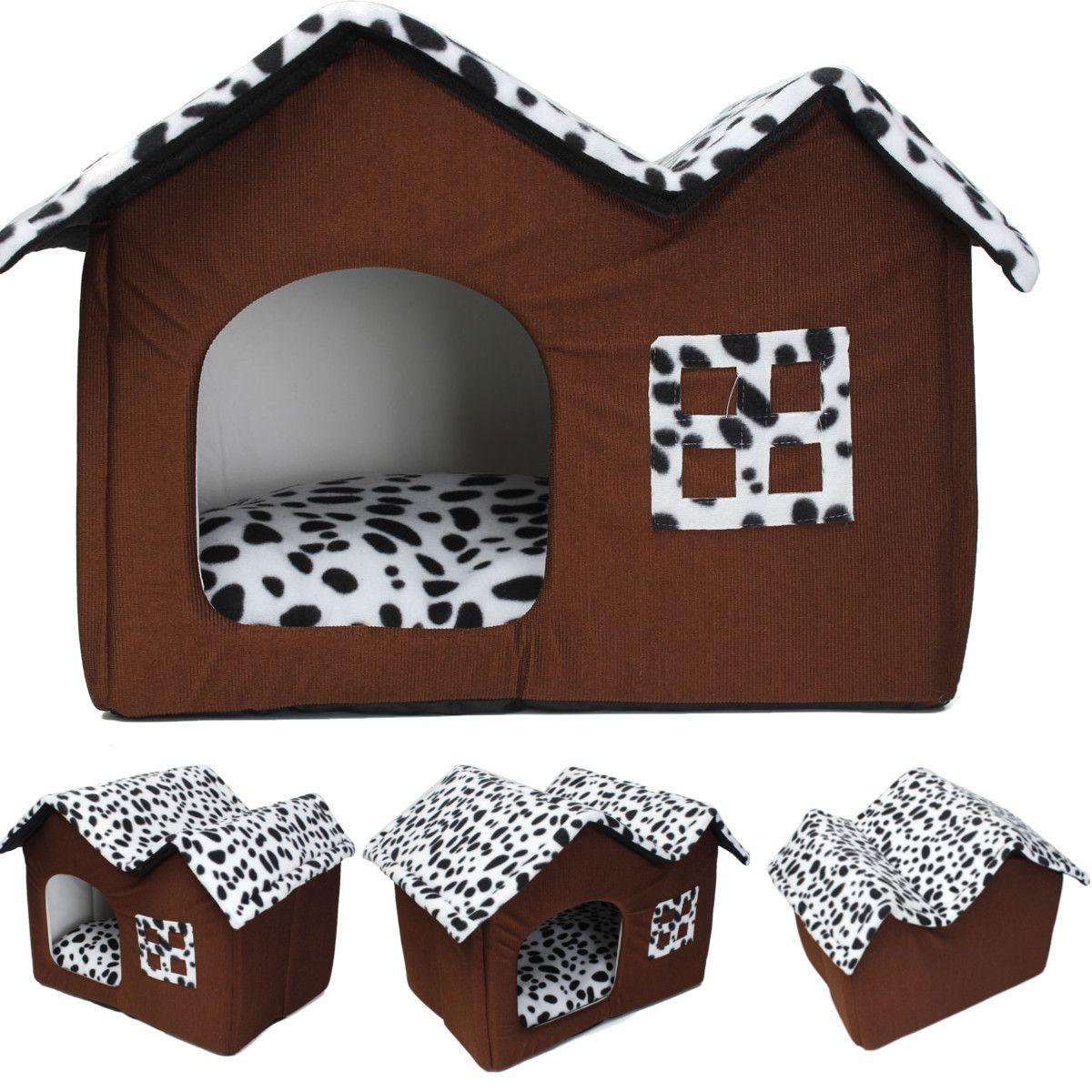 Portable Luxury Spot Double Top Pet House Dog Cat Sleep