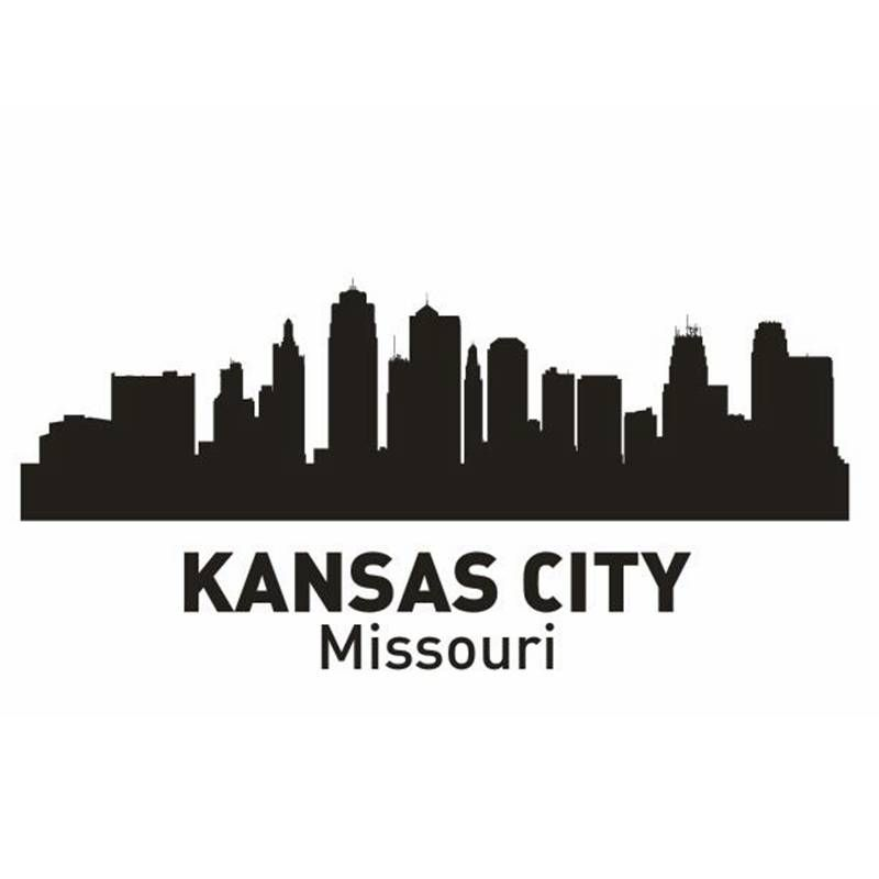 Kansas city decal landmark skyline wall stickers sketch for Craft stores in kansas city