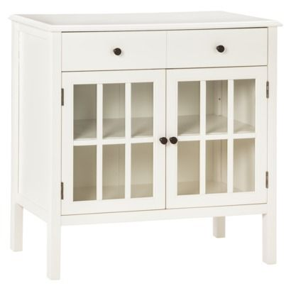 New White Cabinet with Drawers
