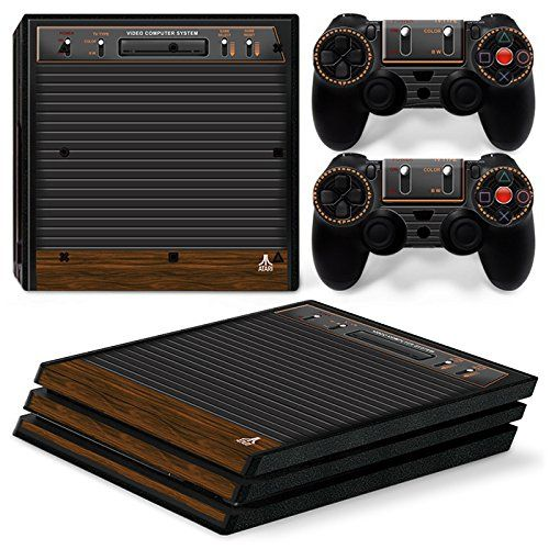 PS4 Playstation 4 Console Skin Decal Sticker Old Atari