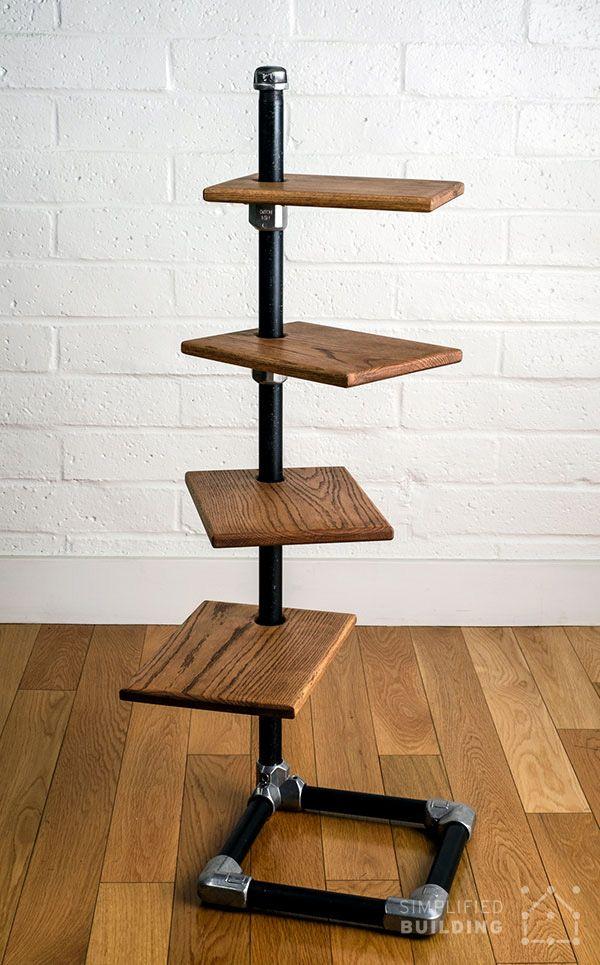 Free Standing Bookshelf Plans To Build Your Own Diy Pipeshelf