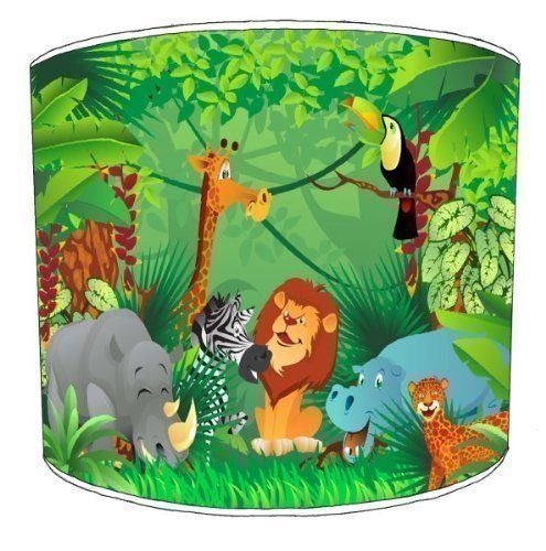 Premier Lampshades Table Zoo Jungle Animals Childrens Lamp Shades - 12 Inch: Amazon.co.uk: Kitchen & Home
