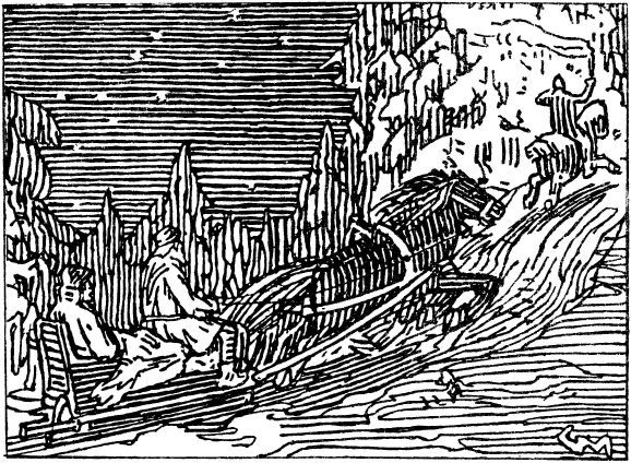 Gerhard Munthe: Illustration for Olav den helliges saga ...
