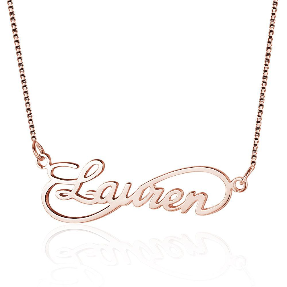 930ec2d80b464 Personalized Sterling Silver Infinity Name Necklace | Charlotte ...
