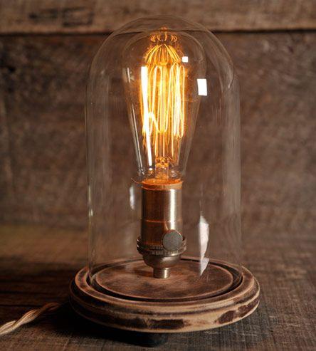 Belle Jar Table Lamp Jar Table Lamp The Bell Jar Industrial Lamp