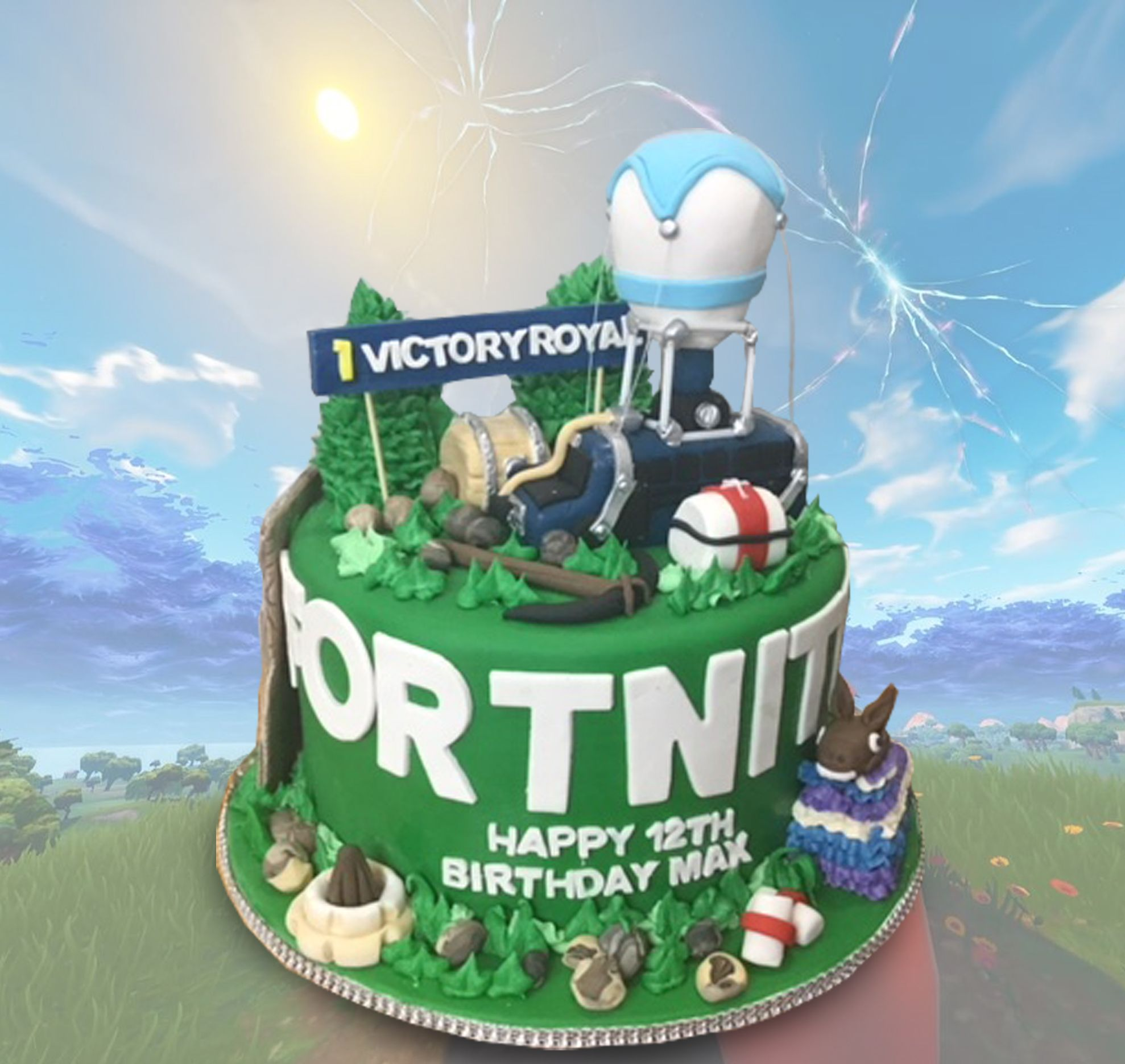 Fine Fortnite Birthday Cake With Images Birthday Cake Pops Happy Personalised Birthday Cards Bromeletsinfo