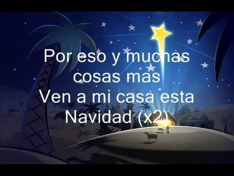 Ven A Mi Casa Esta Navidad Voz Veis Letra Cancion De Navidad Ven A Mi Casa Cancion De Navidad Casitas