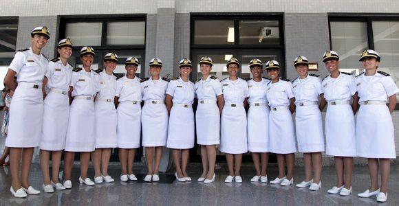 Primeira Turma Feminina Da Escola Naval De 2014 Brasil Mulher