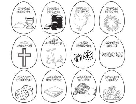 12 FREE Resurrection Eggs Coloring Pages For Kids