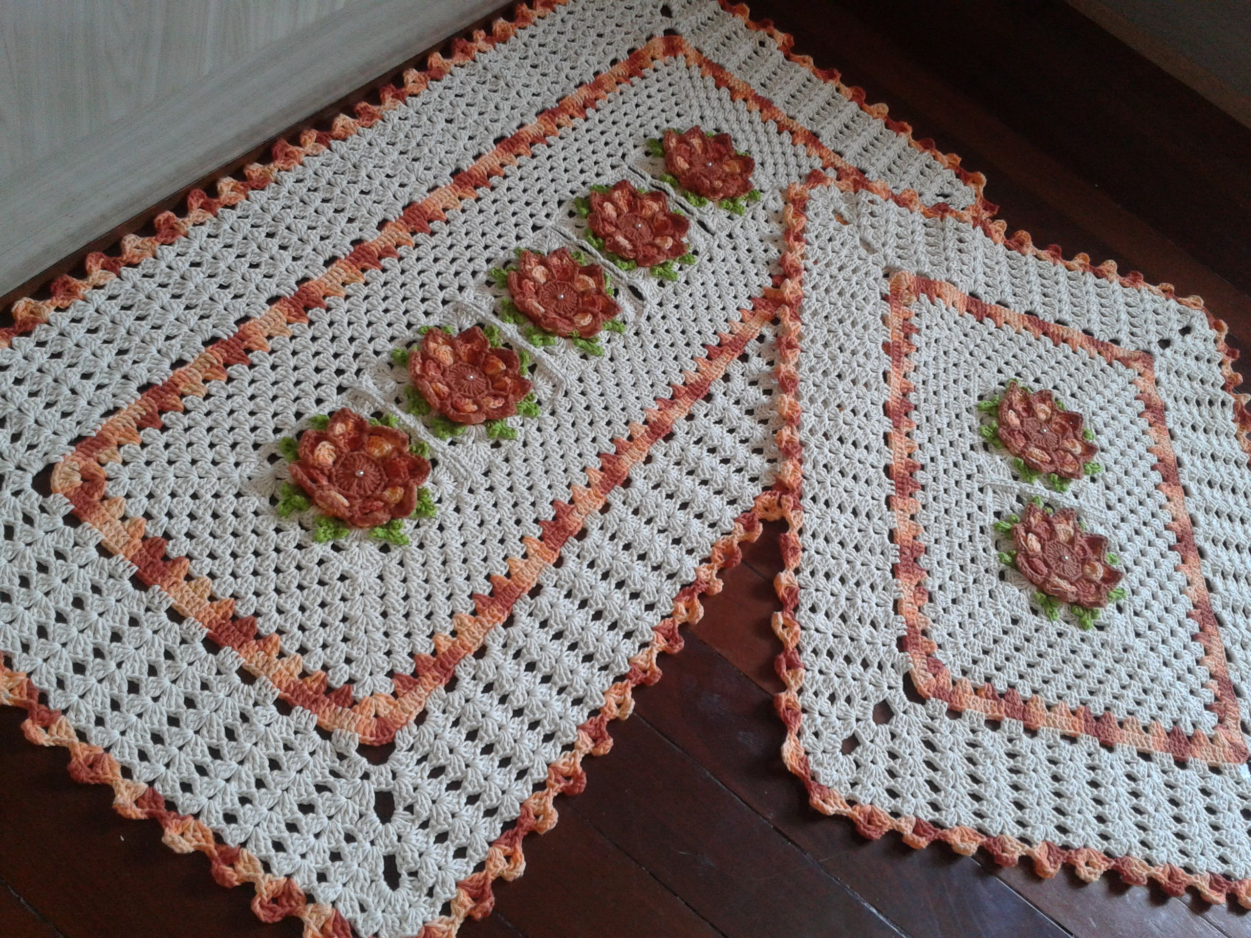 Resultado De Imagem Para Tapete De Croche Para Cozinha Hortel  ~ Como Fazer Conjunto De Cozinha
