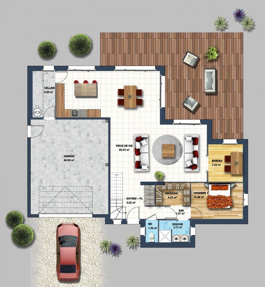 Constructeur maison traditionnelle pontchateau loire for Maison contemporaine 44