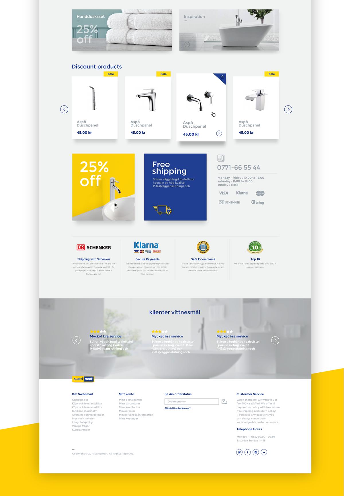Swedmart website UI redesign on Behance Design