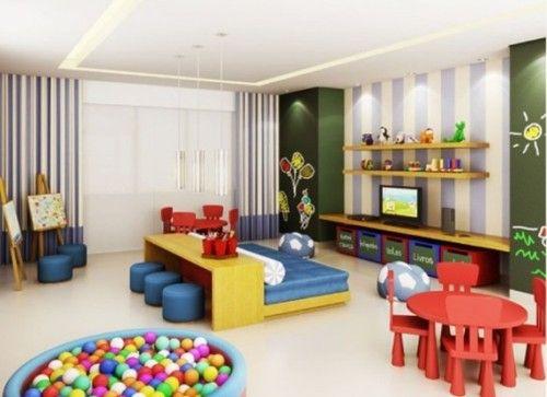 15 Hermosos Diseños de Cuartos de Juegos para Niños | Sala ...