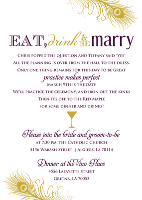 Signatures By Sarah Program And Rehearsal Dinner Invite For Tiffany