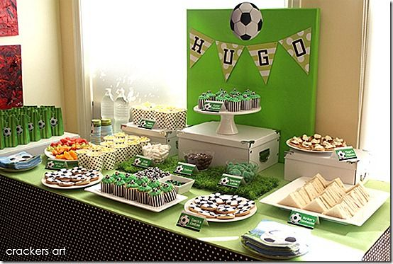 soccer party table