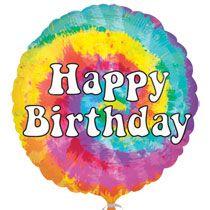 Bulk Tie Dye Happy Birthday Foil Balloons 18 At DollarTree