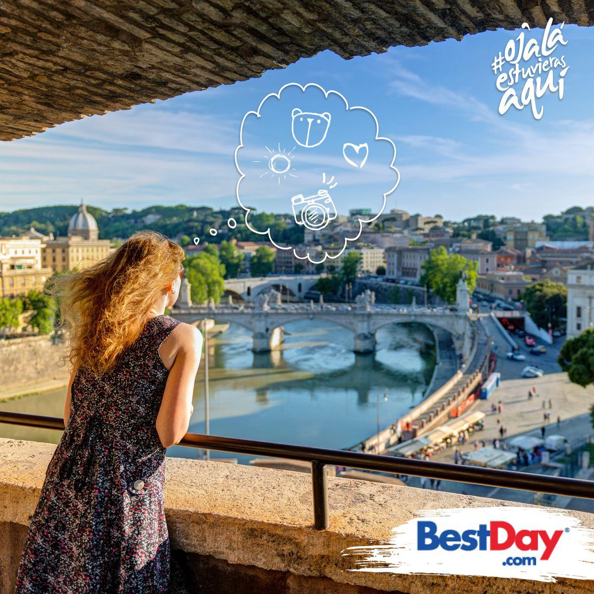 Si viajas a #Roma uno de los monumentos que tienes que visitar es el Castillo de Sant' Angelo, lo encuentras a la orilla del río Tiber y a poca distancia de la ciudad del Vaticano. #OjaláEstuvierasAquí